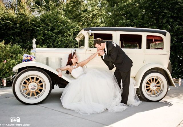 San Diego Antique Car Chauffeur Company Wedding Vintage Limo San