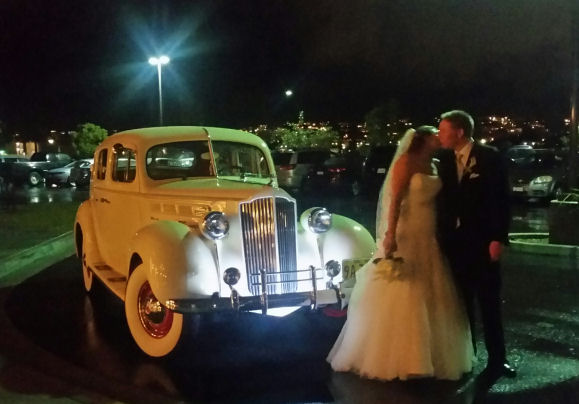 1938 Packard Night Wedding
